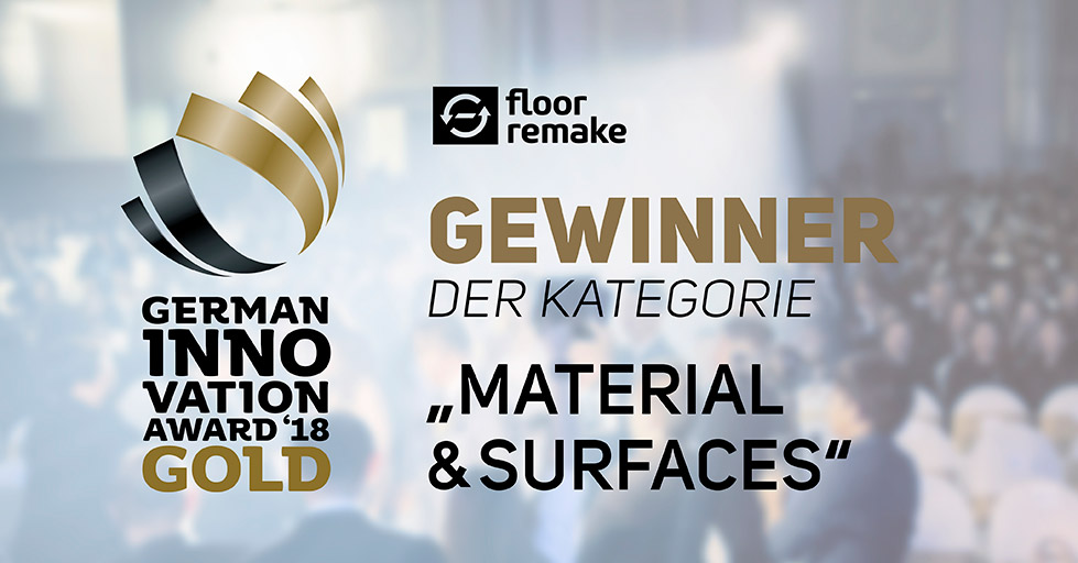 German Innovation Award 2018 für Floor Remake