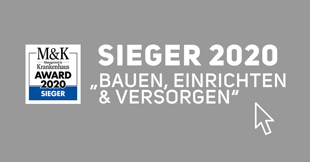 Sieger 2020 Bauen, Einrichten und Versorgen - MK Krankenhaus Award Winner